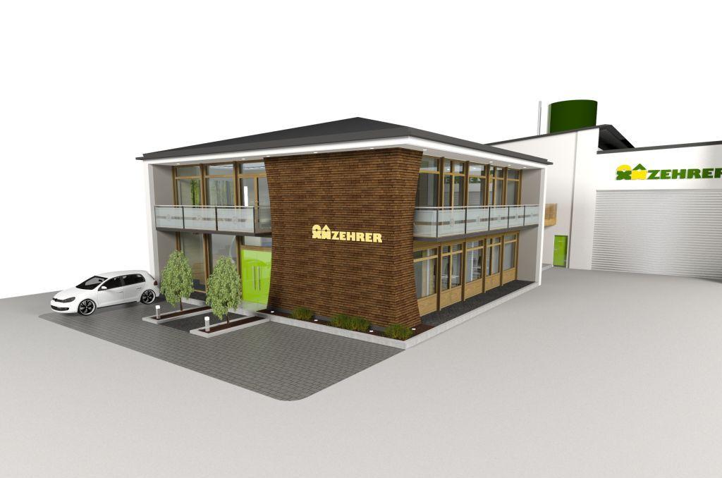 3d visualisierung aussen zehrer holz und fertighaus gmbh. Black Bedroom Furniture Sets. Home Design Ideas